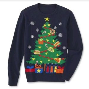 Route 66 Men Ugly Tree Party Holiday Sweater XL